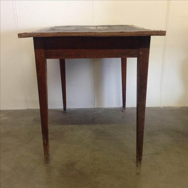 French Vintage Desk With Drawer - Image 5 of 10