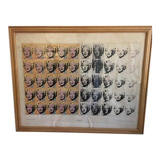 Andy Warhol Custom Framed Marylin Monroe Pop Art Print