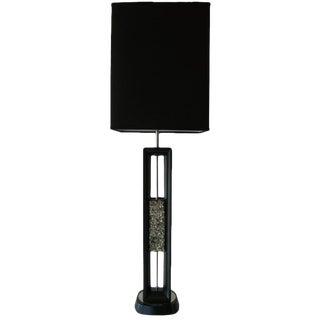 Vintage Mid Century Modern Danish Wood and Quartz Table/ Desk Lamp For Sale