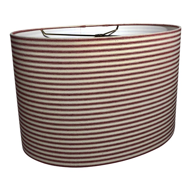 Heath & Co Custom Red and White Lamp Shade For Sale