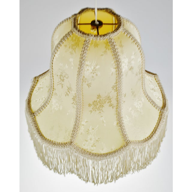 Traditional Vintage Victorian Style Bell Shaped Fringe Lamp Shade For Sale - Image 3 of 13