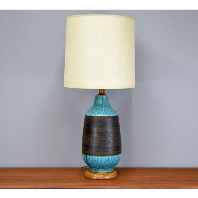 Huge Aldo Londi for Bitossi Ceramic Table Lamp For Sale In Portland, ME - Image 6 of 11