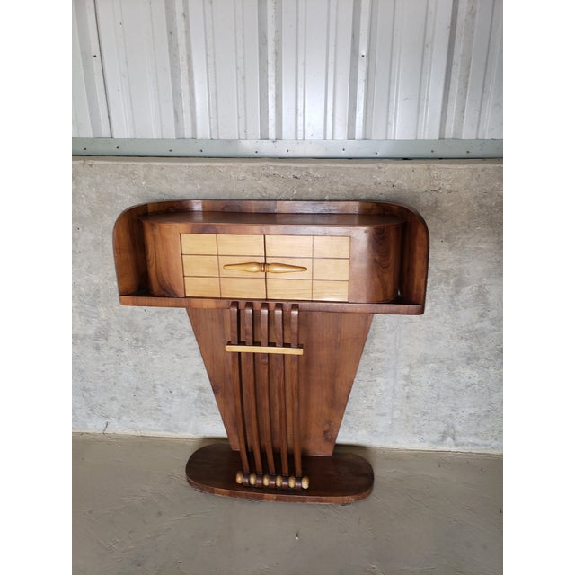 1930s French Art Deco Streamline Moderne Console For Sale - Image 12 of 12