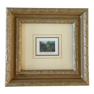 Kathleen Maguire Morolda Framed Garden Theme Lithograph Print For Sale