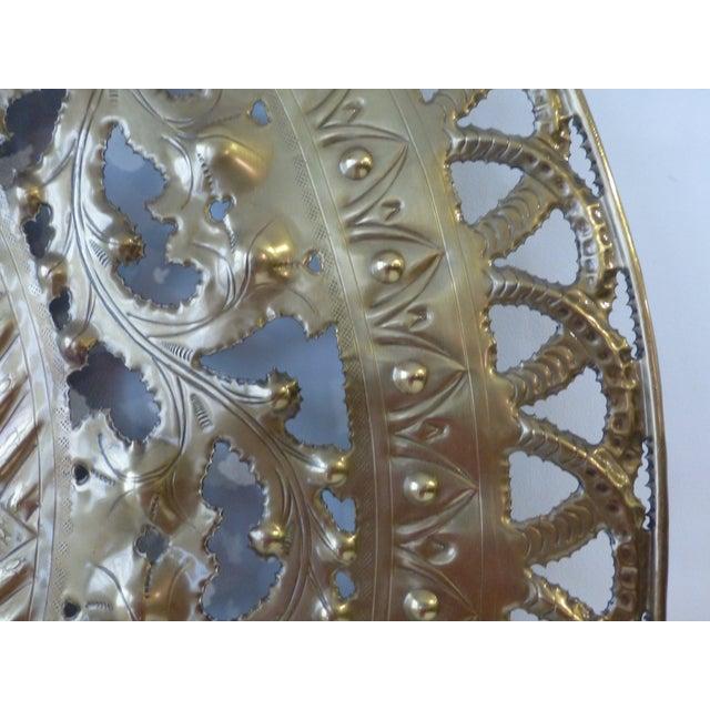 Italian Pierced Flower Brass Metal Wall Art - Image 5 of 7