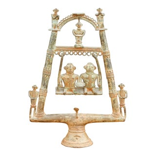 Tribal Bastar Figurines on Swing For Sale