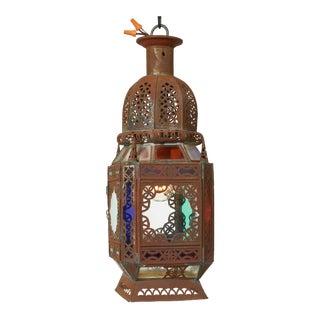 Mid-Century Moroccan Metal Lantern Pendant