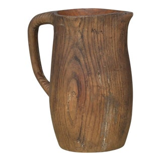 French Water Pitcher in Oak For Sale