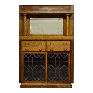 Antique Quartersawn Tiger Oak Bookcase