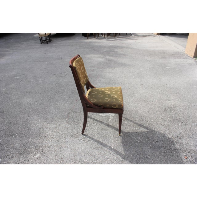 1910s Vintage French Empire Solid Mahogany Dining Chairs - Set of 6 For Sale - Image 10 of 13