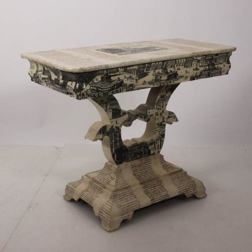 Empire Empire Style Decoupage Game Table For Sale - Image 3 of 8