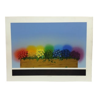"""1980s """"Primavera"""" Antonio Peticov Limited Edition Signed & Numbered Print For Sale"""