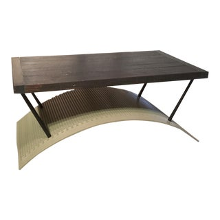Trommel Metal Coffee Table For Sale