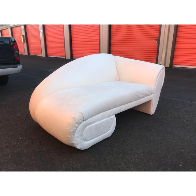Abstract Sculptural Cloud Chaise Lounge Sofas by Marge Carson -A Pair For Sale - Image 3 of 12