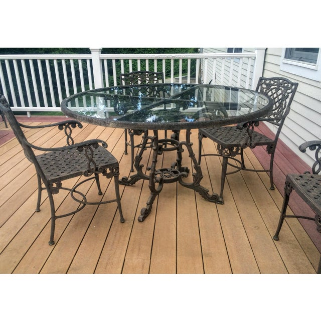 Cast Classics Outdoor Table & Arm Chairs - Set of 6 - Image 8 of 11