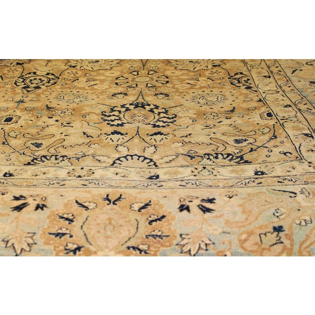 Asian Pak Persian Ping Lt. Brown/Lt. Blue Hand-Knotted Rug -8'10 X 12'2 For Sale - Image 3 of 8
