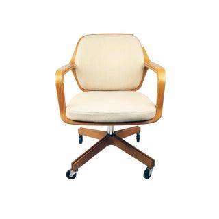 White Petitt 1105 Desk Chair for Knoll International