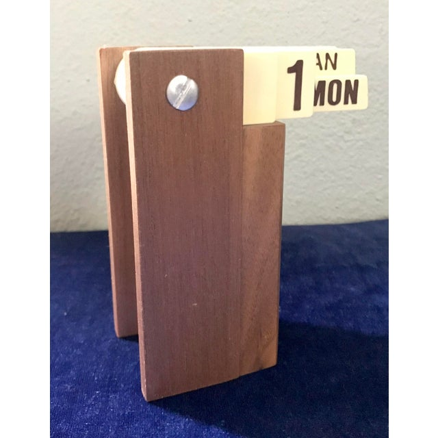 Mid Century Modern Perpetual Desk Calendar For Sale - Image 9 of 9