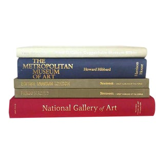 Mid Century Modern Art Museum Book Collection Coffee Table Books - Set of 5