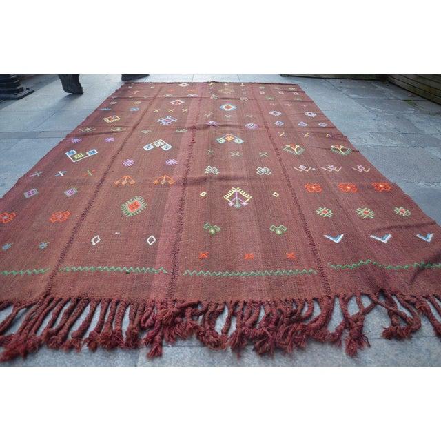 Boho Chic Nomadic Turkish Wool Bohemian Rug - 4′8″ × 7′8″ For Sale - Image 3 of 6