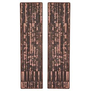 1960's Vintage Copper and Steel Door Handles For Sale