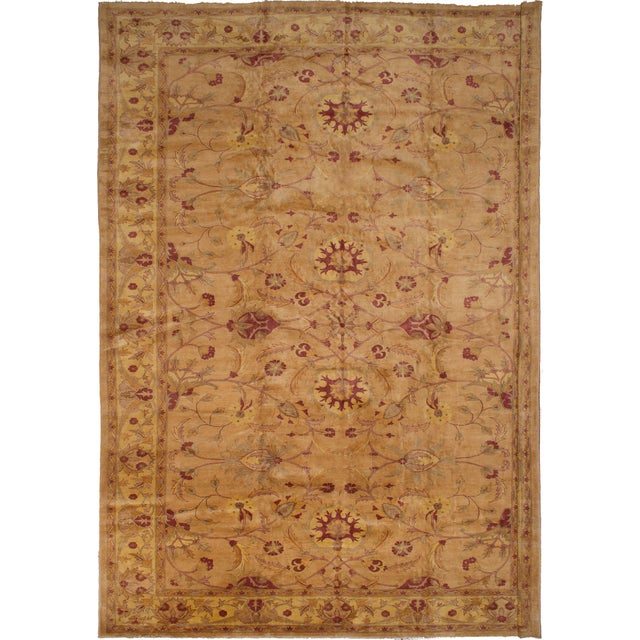 """2000 - 2009 Hand-Knotted Afghan Rug, 13'2"""" X 17'6"""" Feet For Sale - Image 5 of 5"""