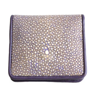 Lavender Shagreen Coin Purse For Sale