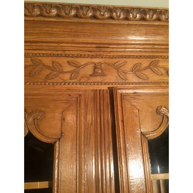 Early 19th Century French Carved Bibliotech Display Cabinet For Sale - Image 10 of 11