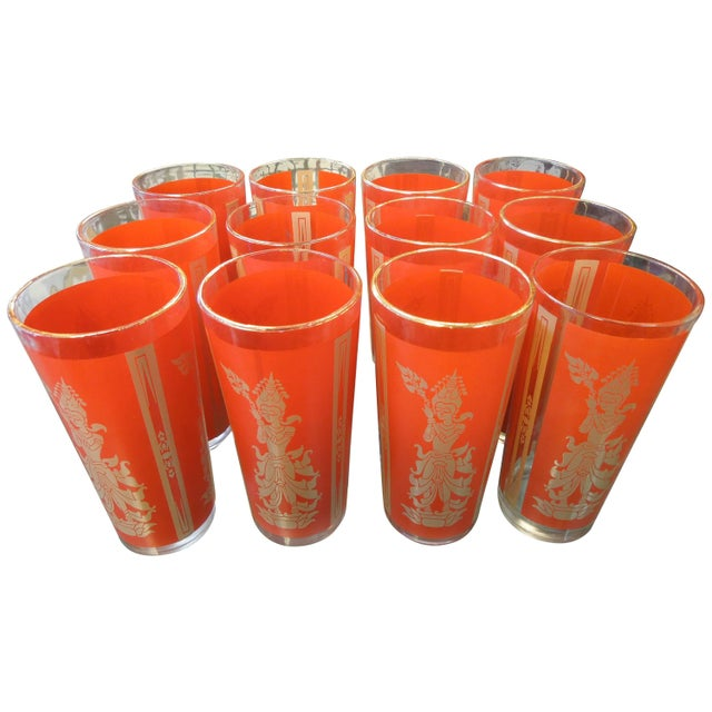 """Set of 12 """"Thai Princess"""" Mid-Century Cocktail Glasses For Sale In Palm Springs - Image 6 of 6"""