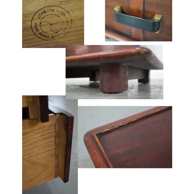 Paul Frankl Johnson Furniture Mahogany Station Wagon Nightstands- A Pair - Image 5 of 10
