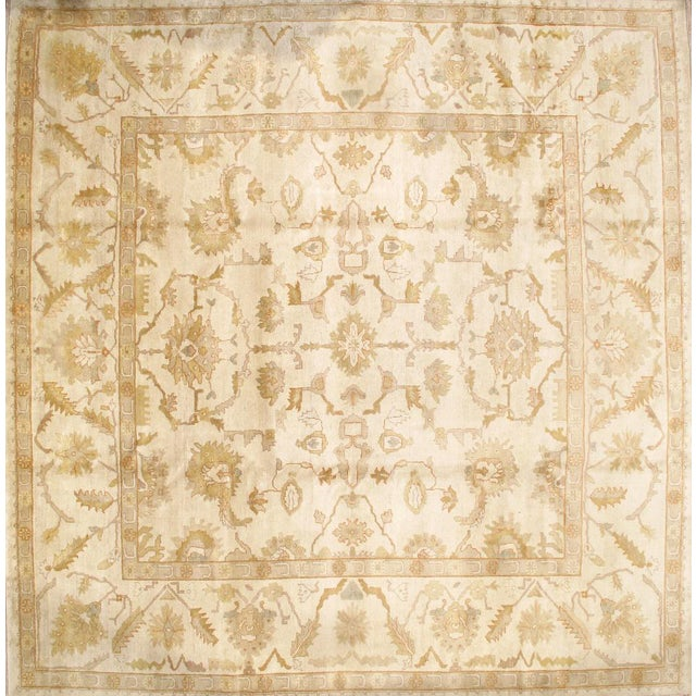 "Pasargad NY Original Turkish Oushak Design Hand-Knotted Rug - 12' x 12'3"" For Sale"