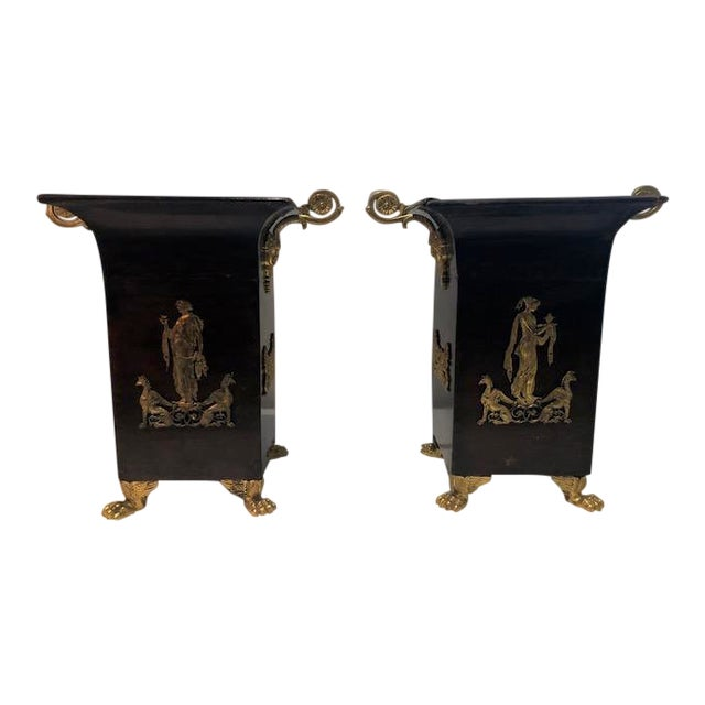19th Century Neoclassical Napoleon III Cachepots - a Pair For Sale