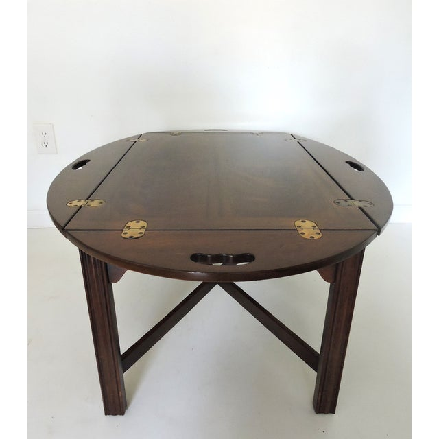 American Classical Drexel Heritage Butler's Table For Sale - Image 3 of 6