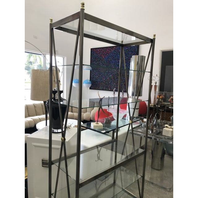 Mid-Century Modern Dia Etagere with Glass Shelves For Sale - Image 3 of 13
