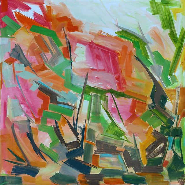 """Abstract Oil Painting by Trixie Pitts """"Peak Path"""" - Image 2 of 5"""