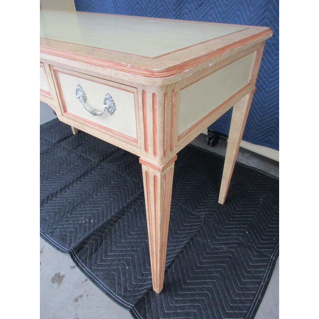 "Louis XVI Style Writing Desk ""Peaches and Cream"" - Image 8 of 11"