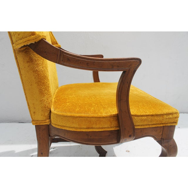 Jim Peed For Drexel Brass Final Accent Tall Wingback Chair - Image 8 of 11