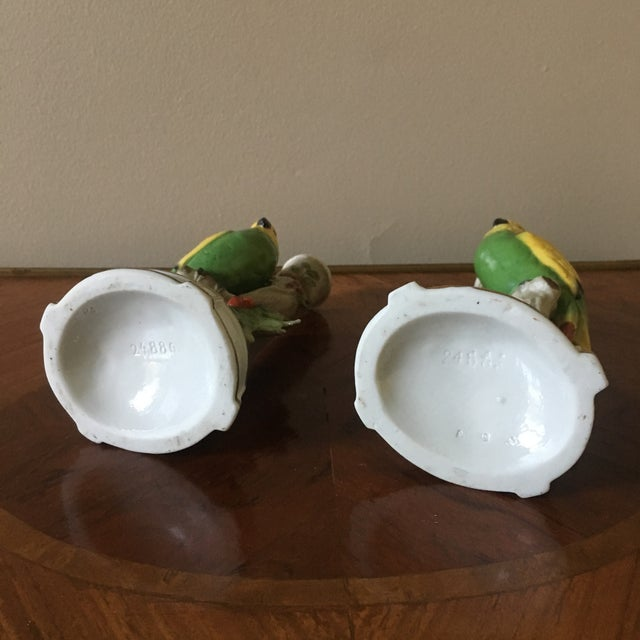 Vintage German Porcelain Parrot Candle Holders- a Pair For Sale In South Bend - Image 6 of 8