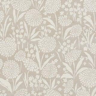 Schumacher Chrysanthemum Shimmer Wallpaper in Moonstone For Sale