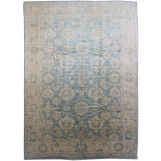 Aara Rugs Inc. Hand Knotted Oushak Rug - 9′ × 12′ For Sale