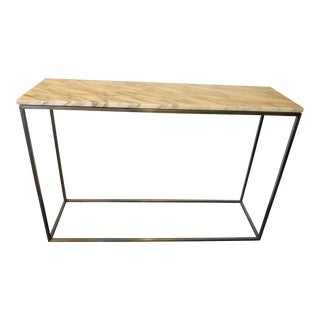 Rubik Marble and Steel Console Table For Sale