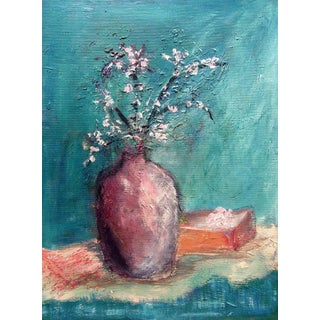 Modernist Still Life Cherry Blossom Painting For Sale