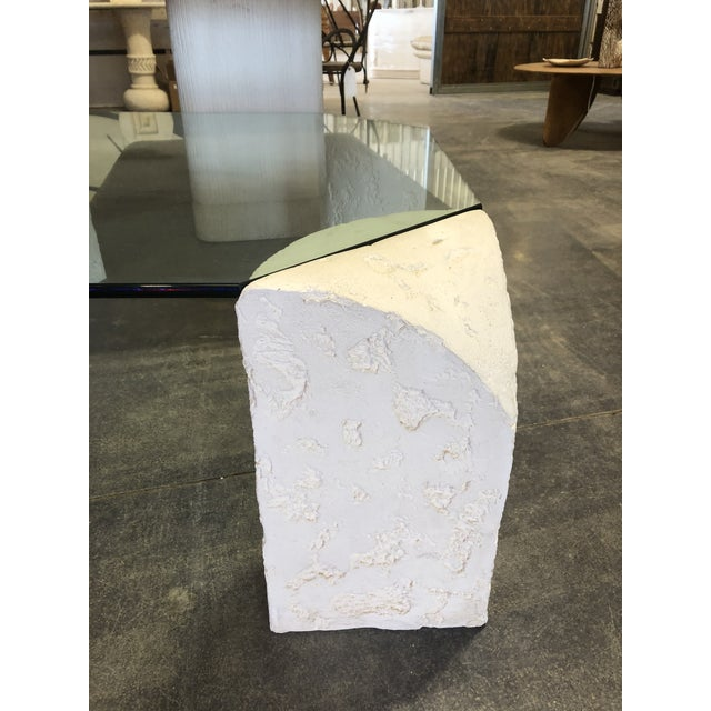 1980's Plaster Coffee Table For Sale - Image 4 of 6