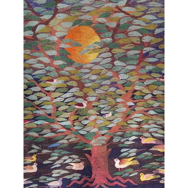 "Swedish ""Tree of Life"" Rug - 49"" x 53.5"" - Image 4 of 4"