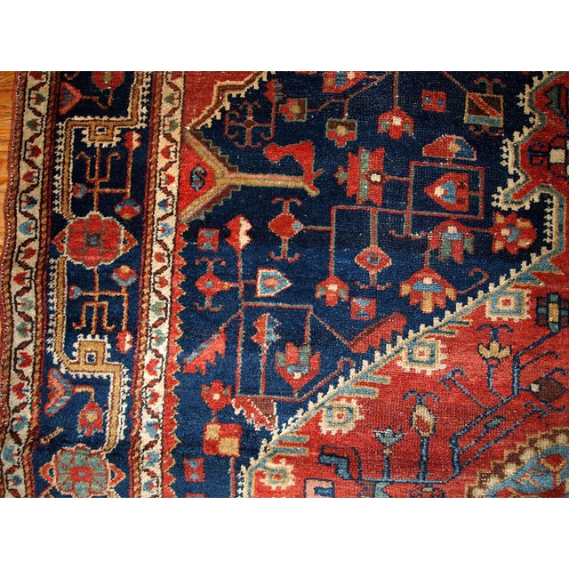 Country 1920s Handmnade Antique Persian Malayer Rug - 4.10' X 7.3' For Sale - Image 3 of 8