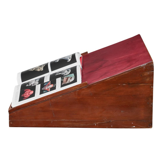 Pierre Jeanneret Teak and Leather Reading Stand From Chandigarh For Sale