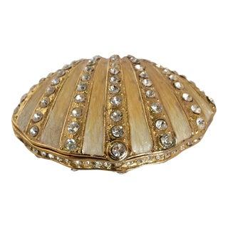 Crystal Enameled Sea Shell Trinket Box