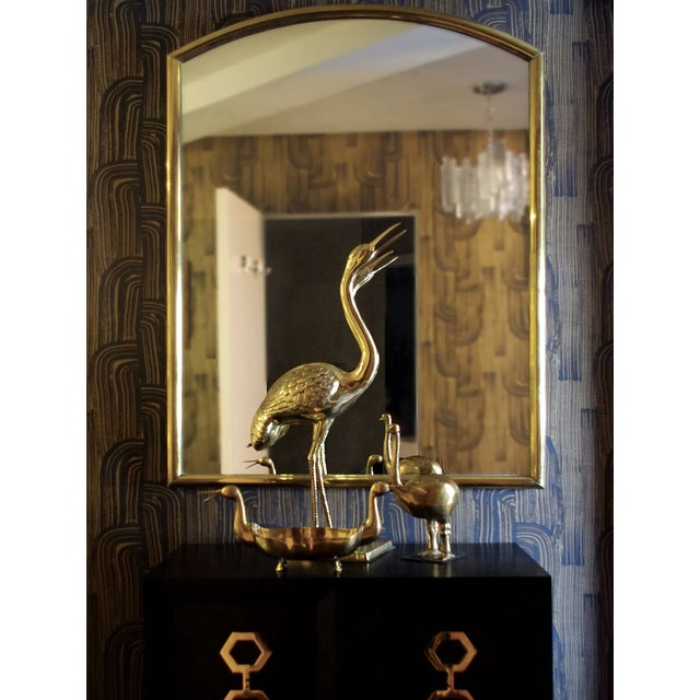 Groundworks Crescent Wallpaper in Ebony/Gold For Sale In New York - Image 6 of 7
