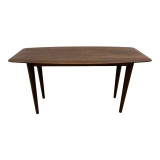 Contemporary Walnut Table for Console Dining or Desk For Sale