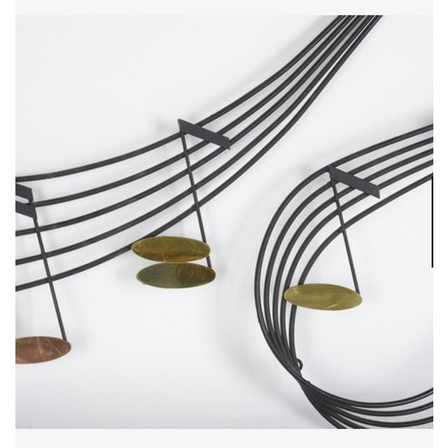 Curtis Jere Musical Note Wall Sculpture - Image 5 of 6